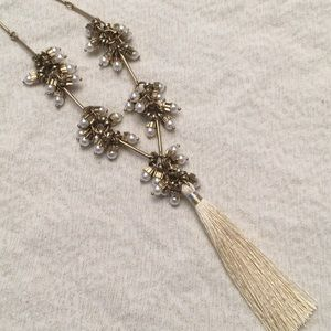 Plunder Necklace with Pearl Clusters and Tassel